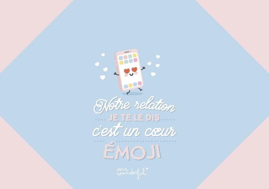 Notre relation je te le dis c'est un coeur emoji