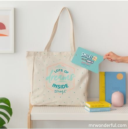 Tote bag personalised products L - Lots of dreams inside