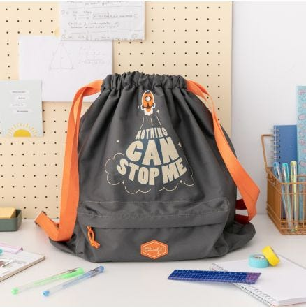 Mochila saco - Nothing can stop me