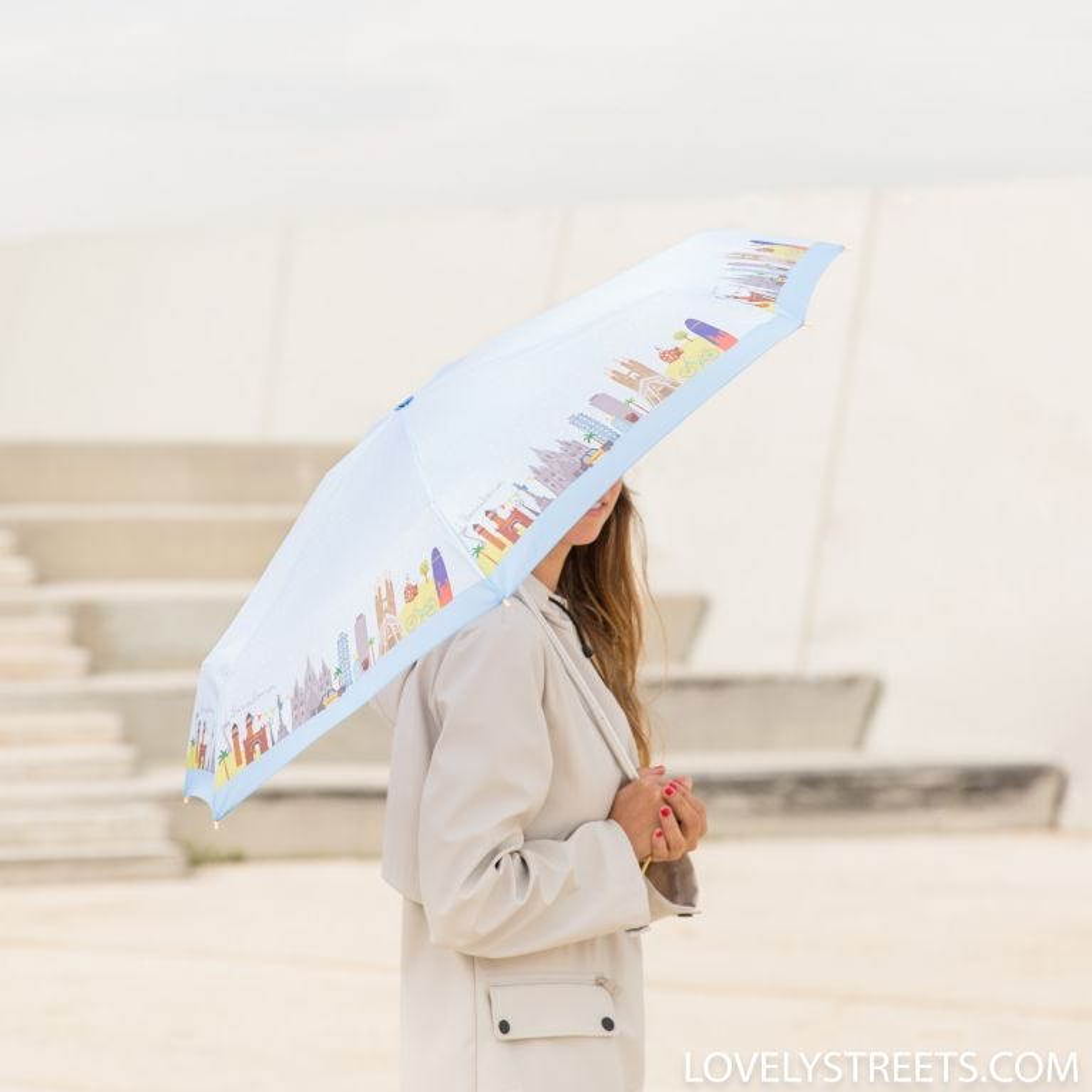Paraguas pequeño Lovely Streets - Barcelona