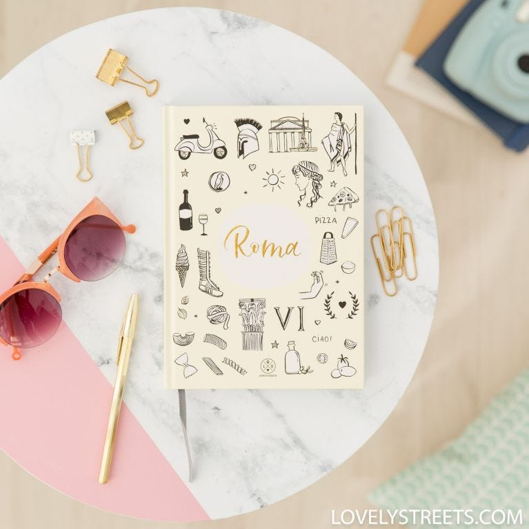 Caderno Lovely Streets - Sketch the world Roma