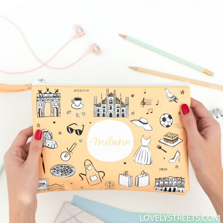 Carryall Sketch the World Milano - Lovely Streets