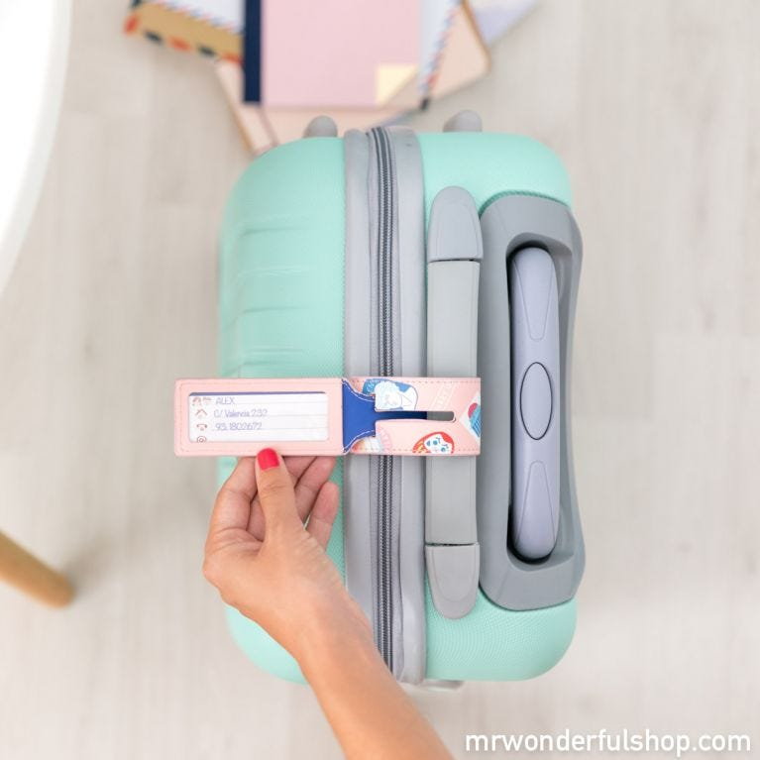 Etiqueta para a bagagem mais especial e viajada - Lovely Streets
