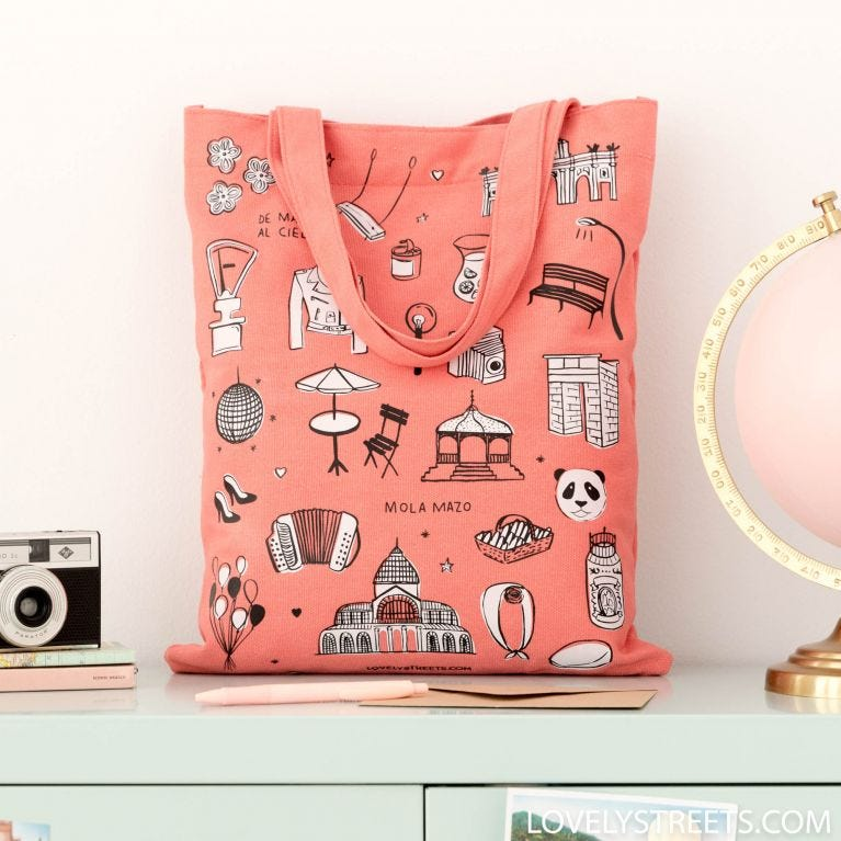 Tote bag Madrid - Lovely Streets