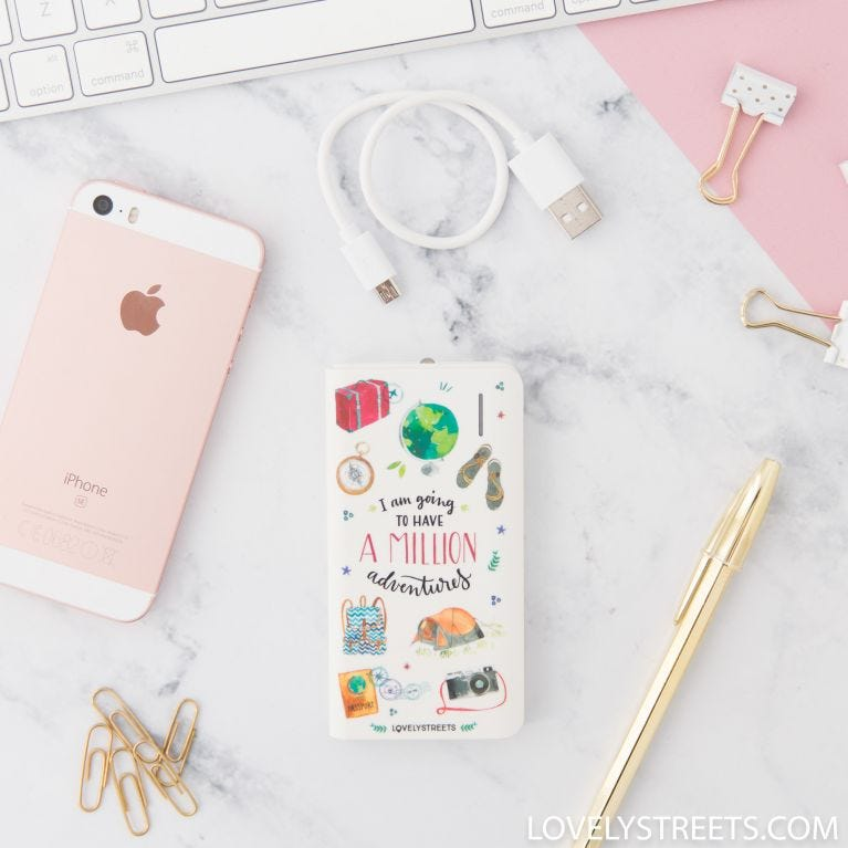 Power bank - I am going to have a million adventures (ENG)