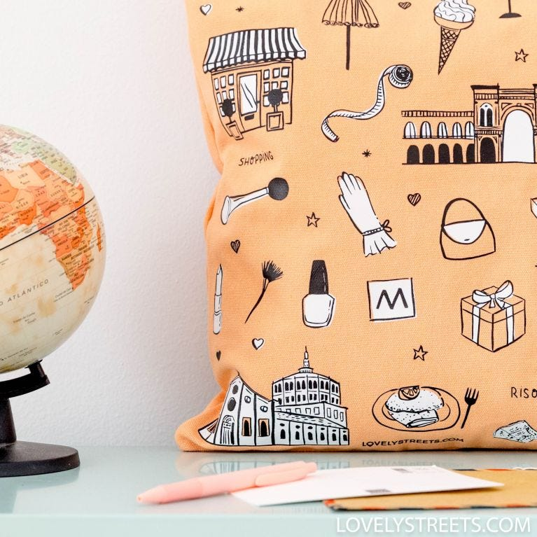 Tote bag Milano - Lovely Streets