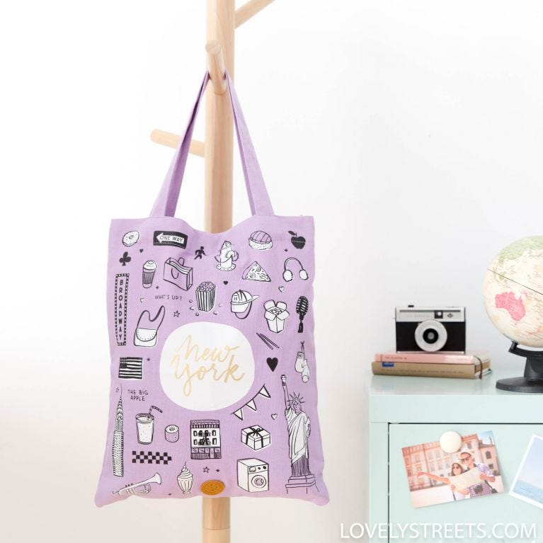 Tote bag New York - Lovely Streets