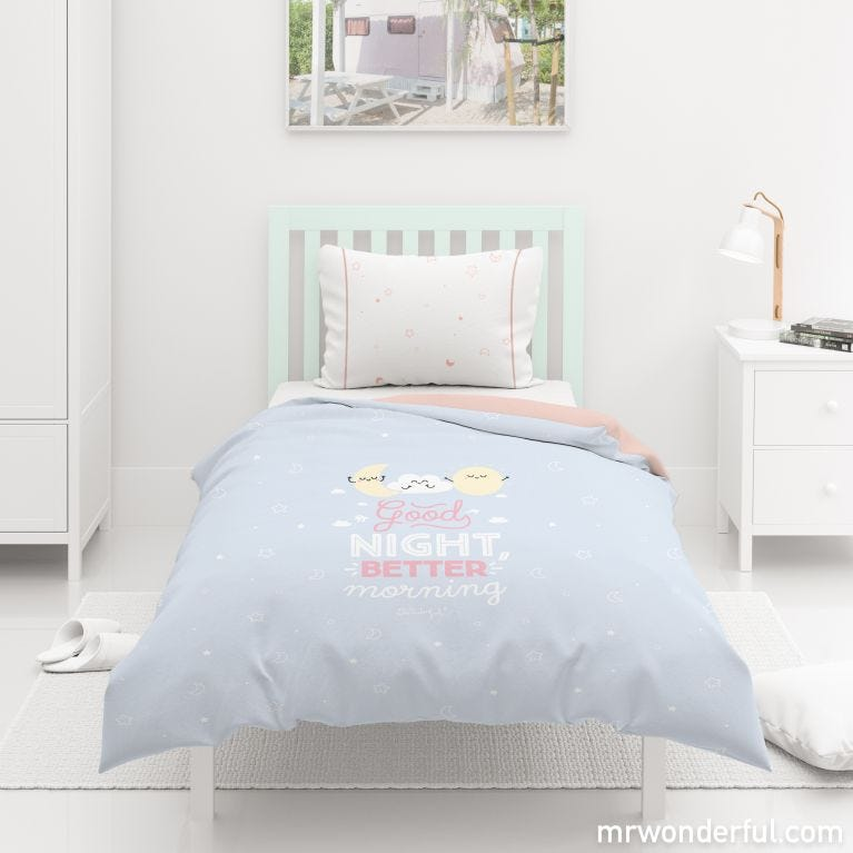 Duvet cover (size 90) - Rise and shine