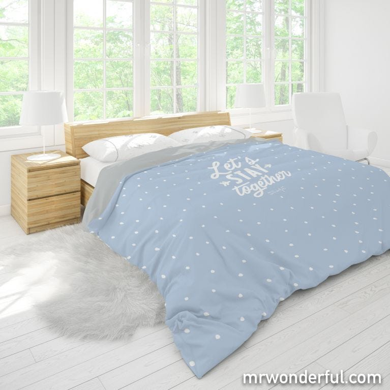 Duvet cover (size 150) - Good morning everyone