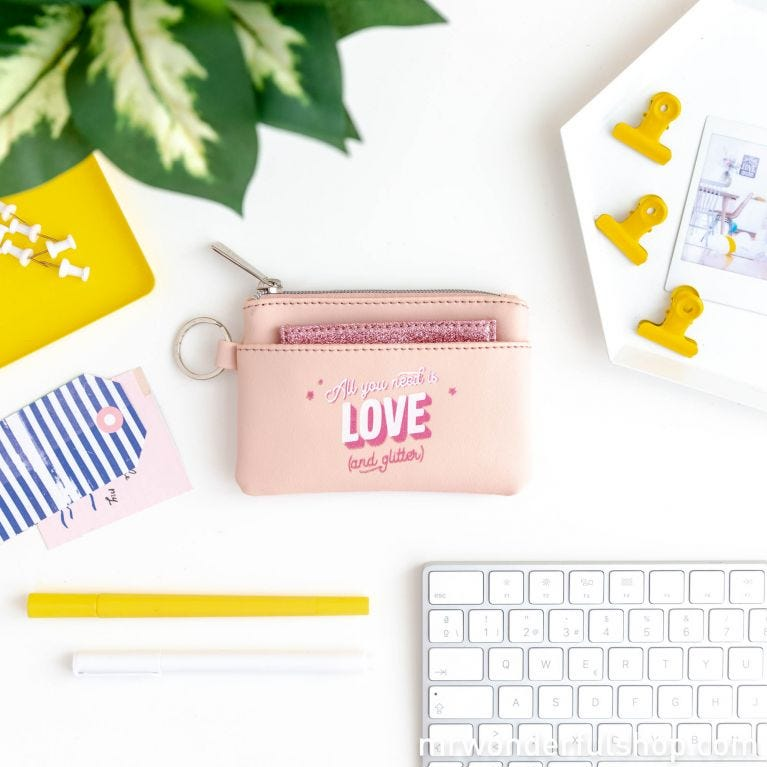 Purse - All you need is love (and glitter)