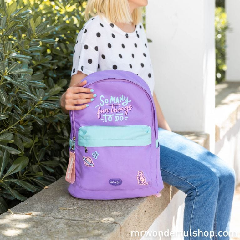 Backpack - So many fun things to do