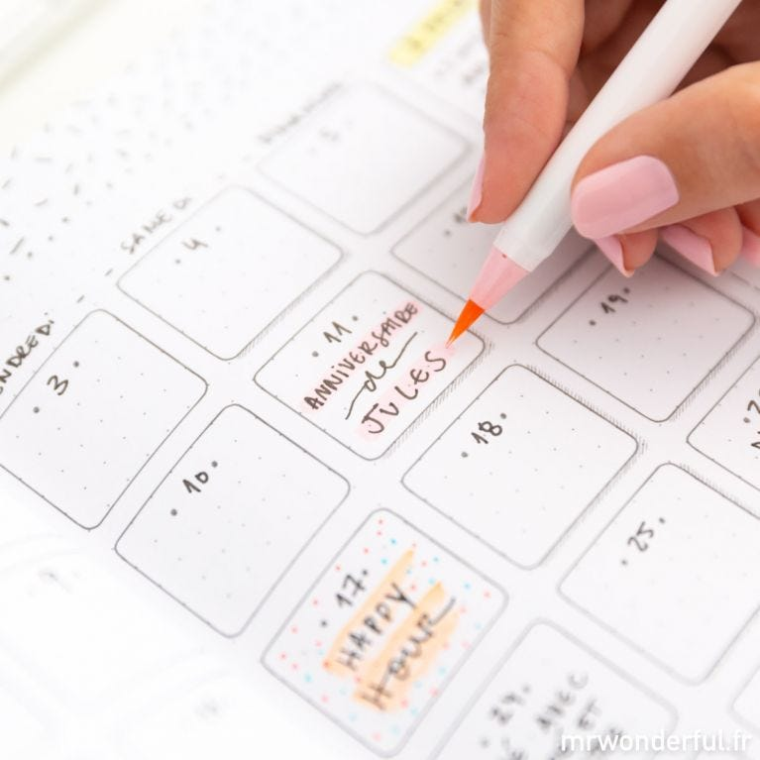 Agenda bullet - Du rêve à l'action