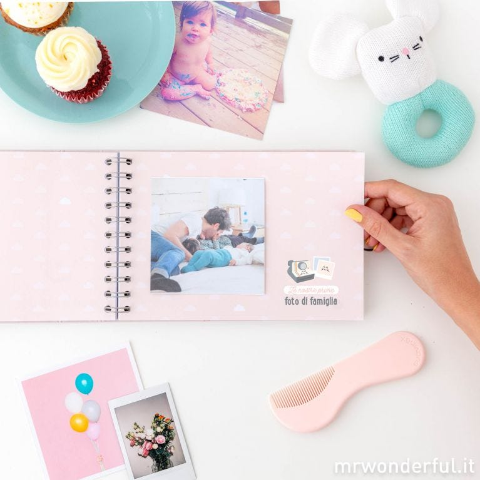 Album foto rosa - Il mio primo annetto al mondo