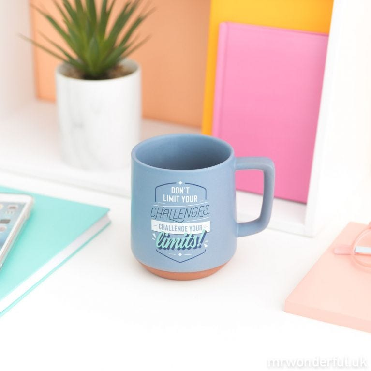 Mug - Don't limit your challenges, challenge your limits!