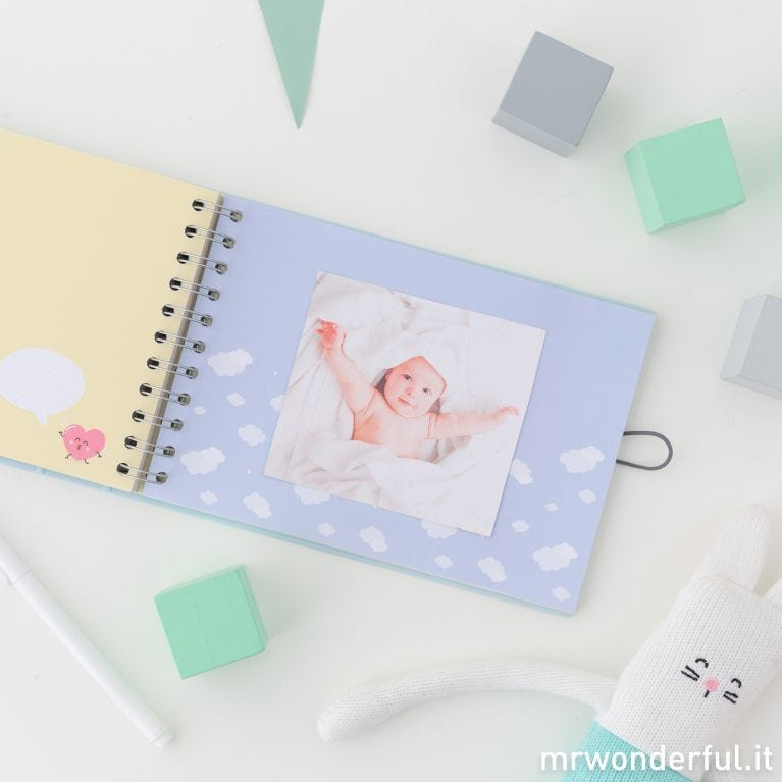 Album foto bambino blu - Momenti della piccola grande stella della casa