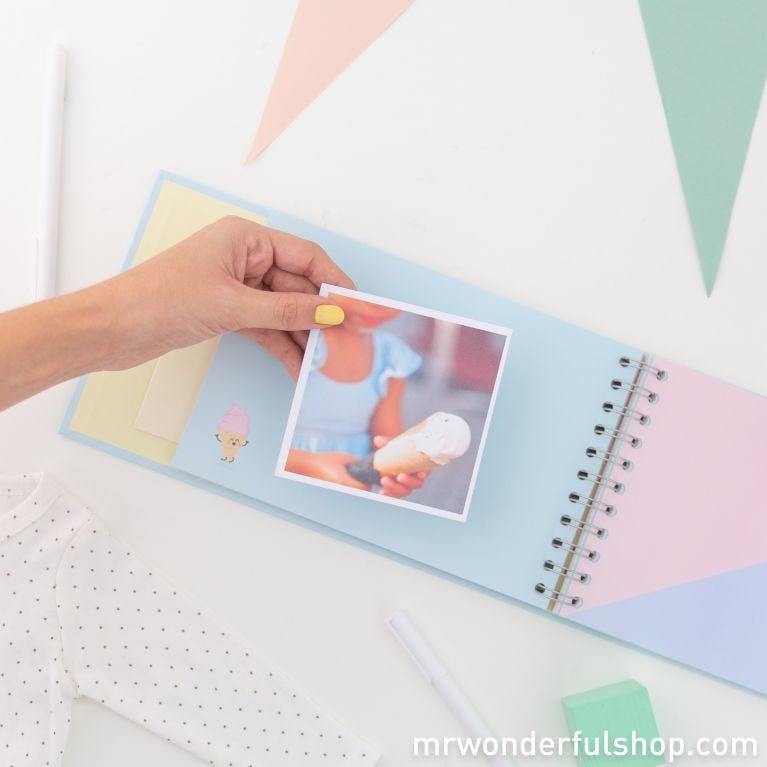Blue baby photo album - Magical moments with the star of our home