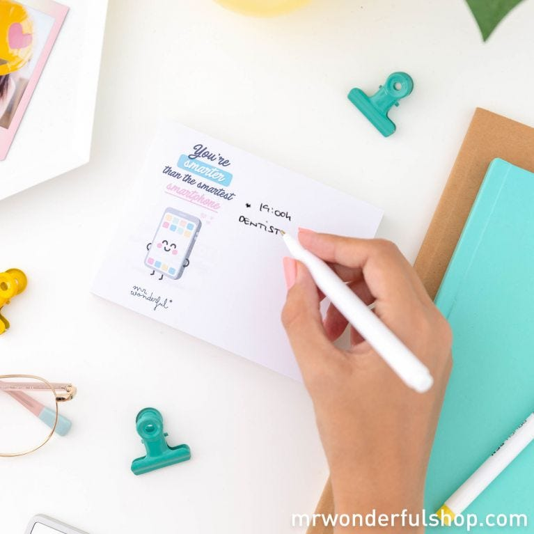 Notepad with wonder-advices