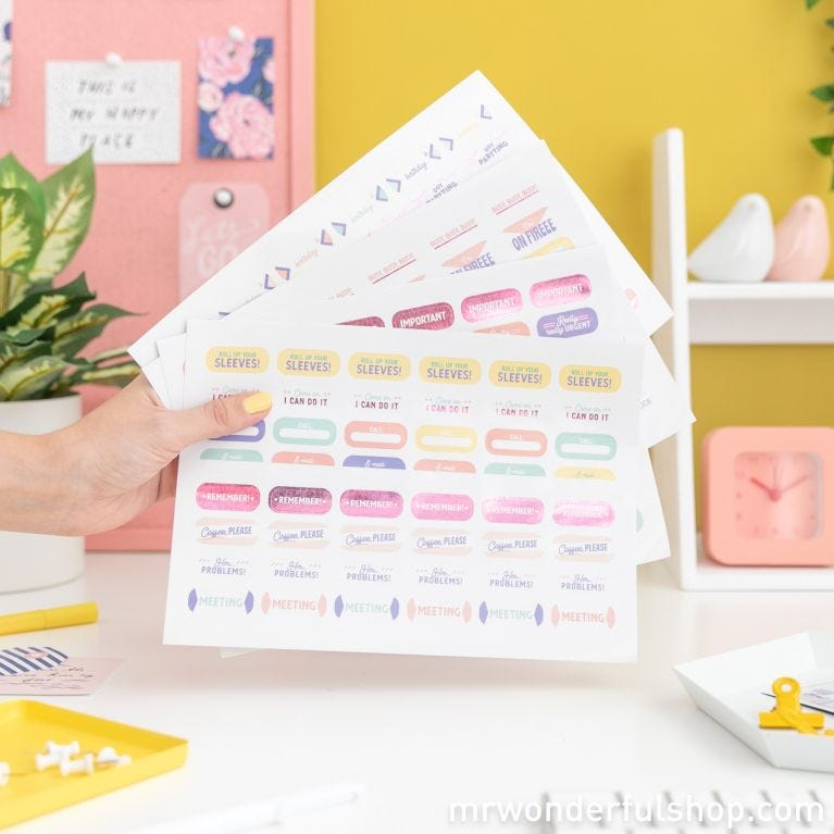 Planner with stickers - Make way, I'm coming through!