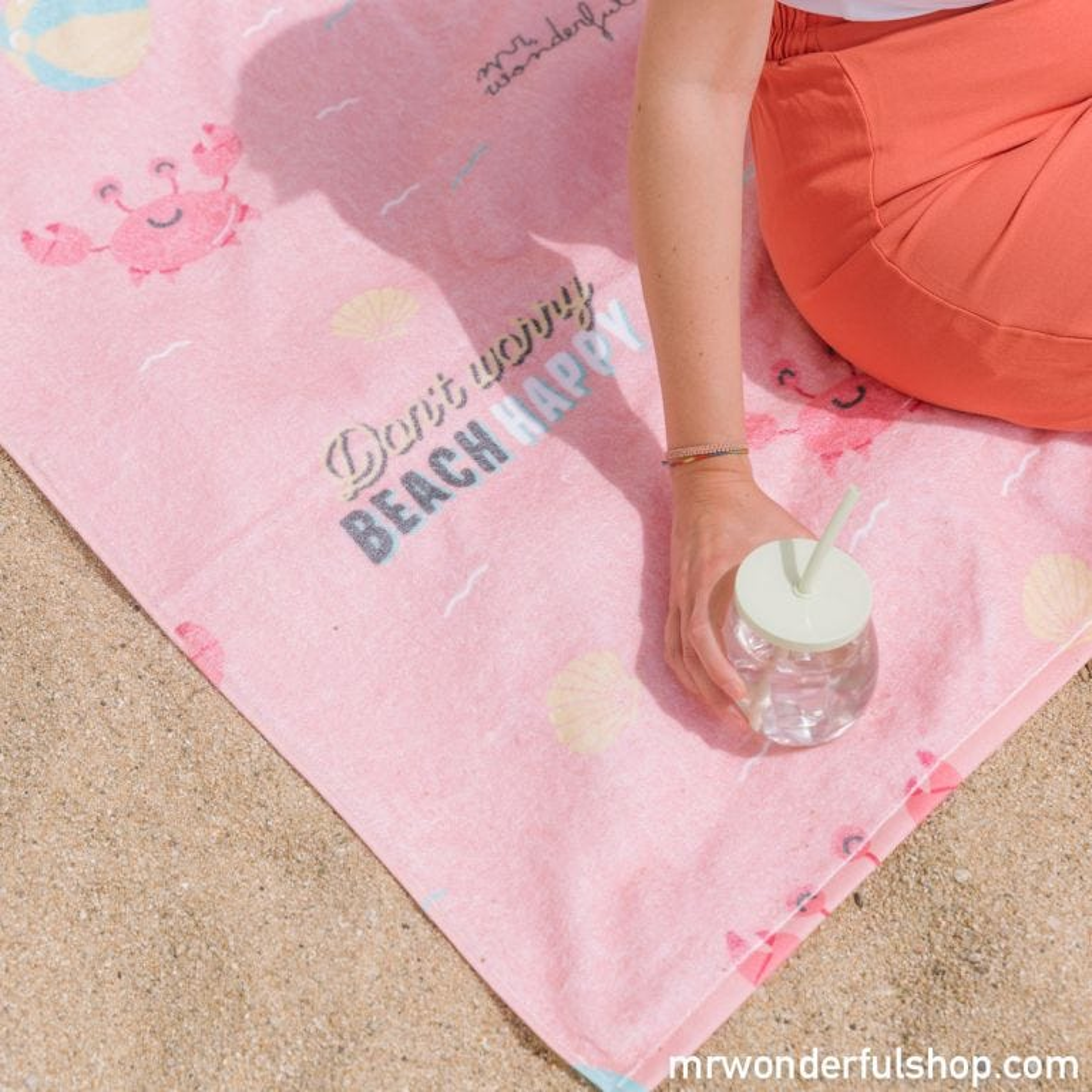 Beach towel - Don't worry beach happy