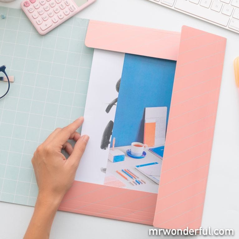 Folder with flaps – Great things