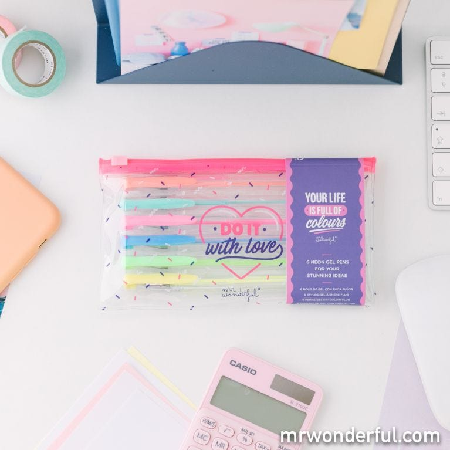 Set de 6 canetas coloridas - Do it with love