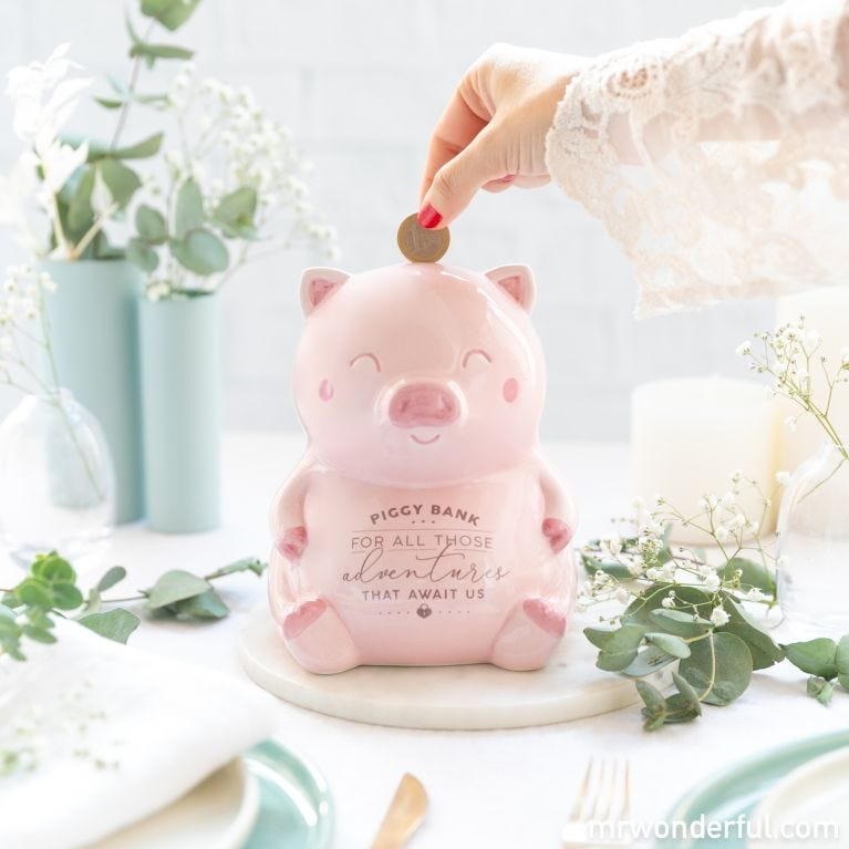 Piggy bank for all those adventures that await us