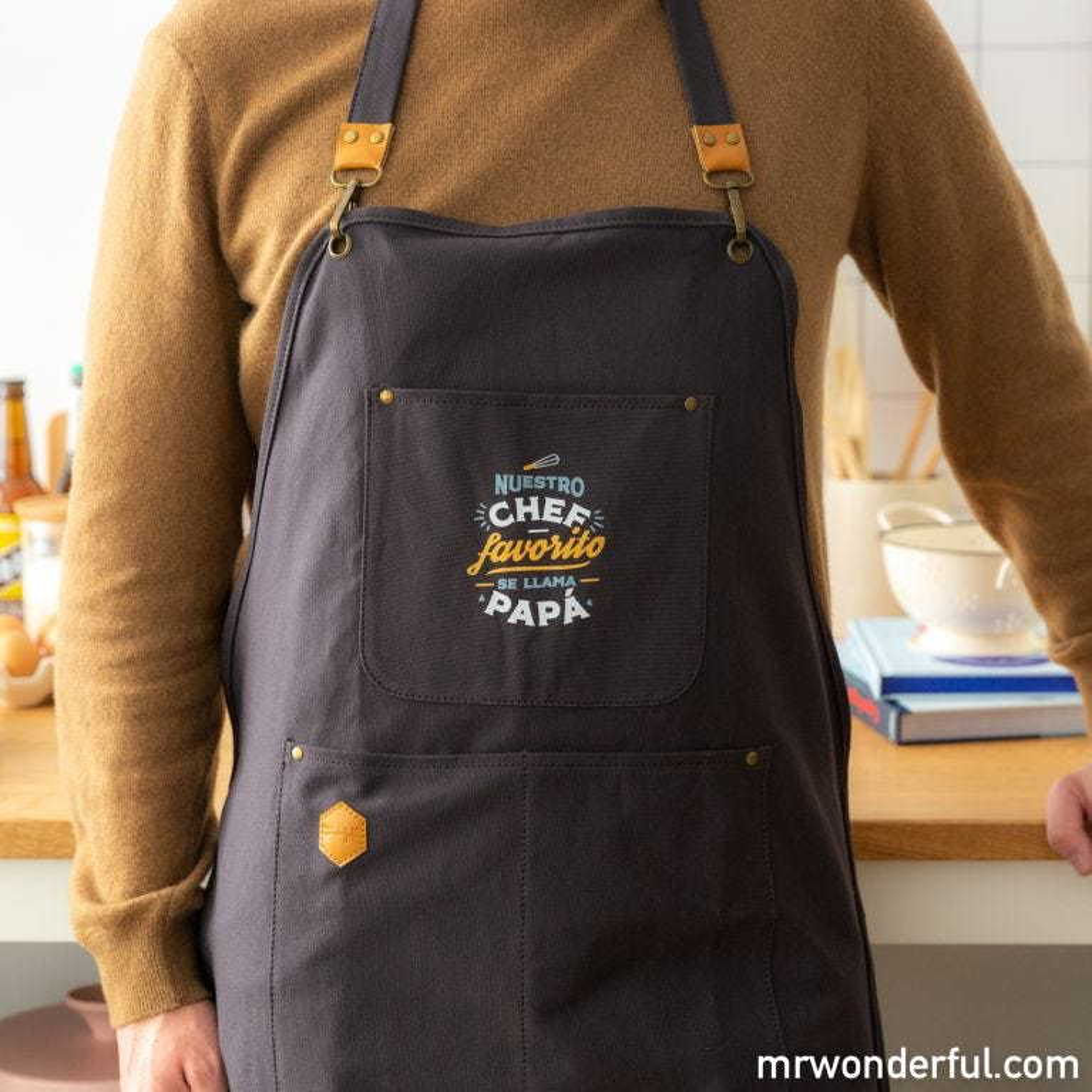 Delantal + manopla - Nuestro chef favorito se llama papá