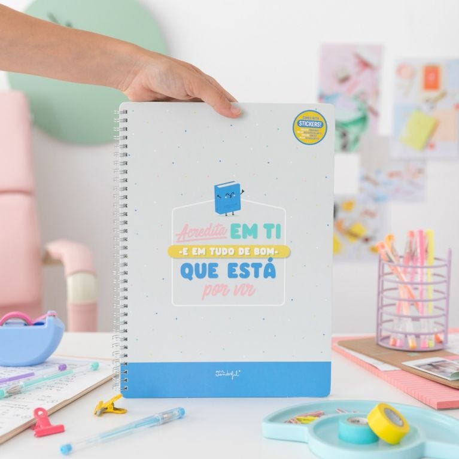 Caderno - Acredita em ti e em tudo de bom que está por vir