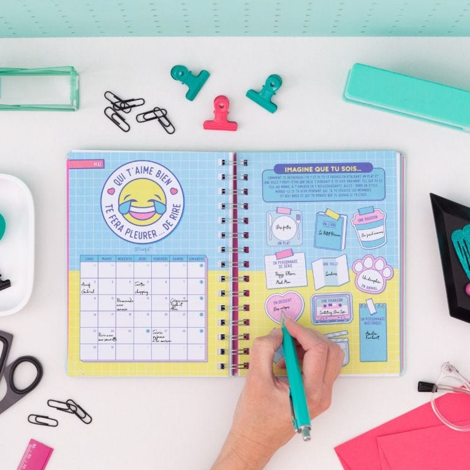 Agenda sketch 2021-2022 Semainier - Tout ce que je fais avant le week-end