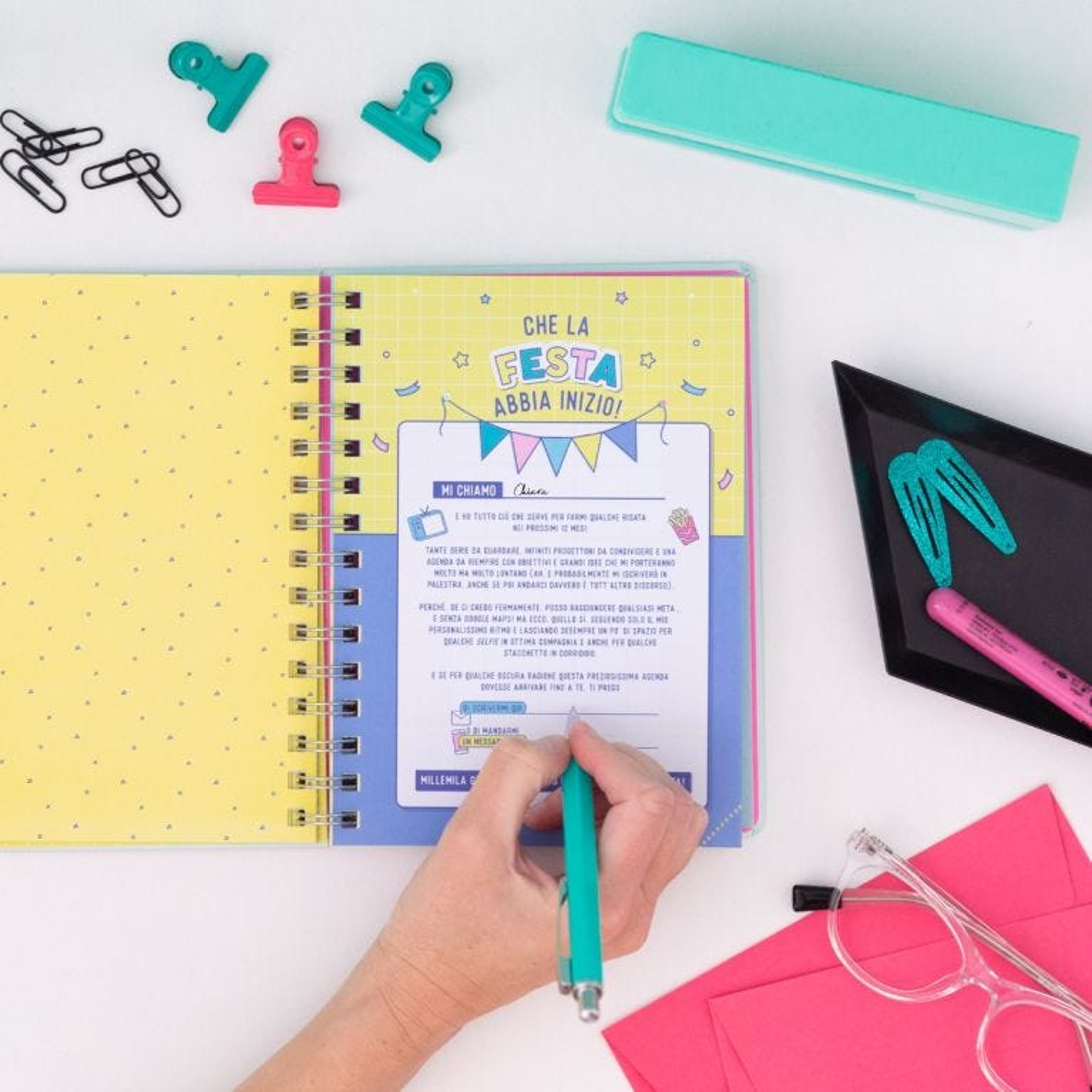 Diario scolastico sketch 2021-2022 Vista settimanale - Settimane eccezionali e weekend spettacolari