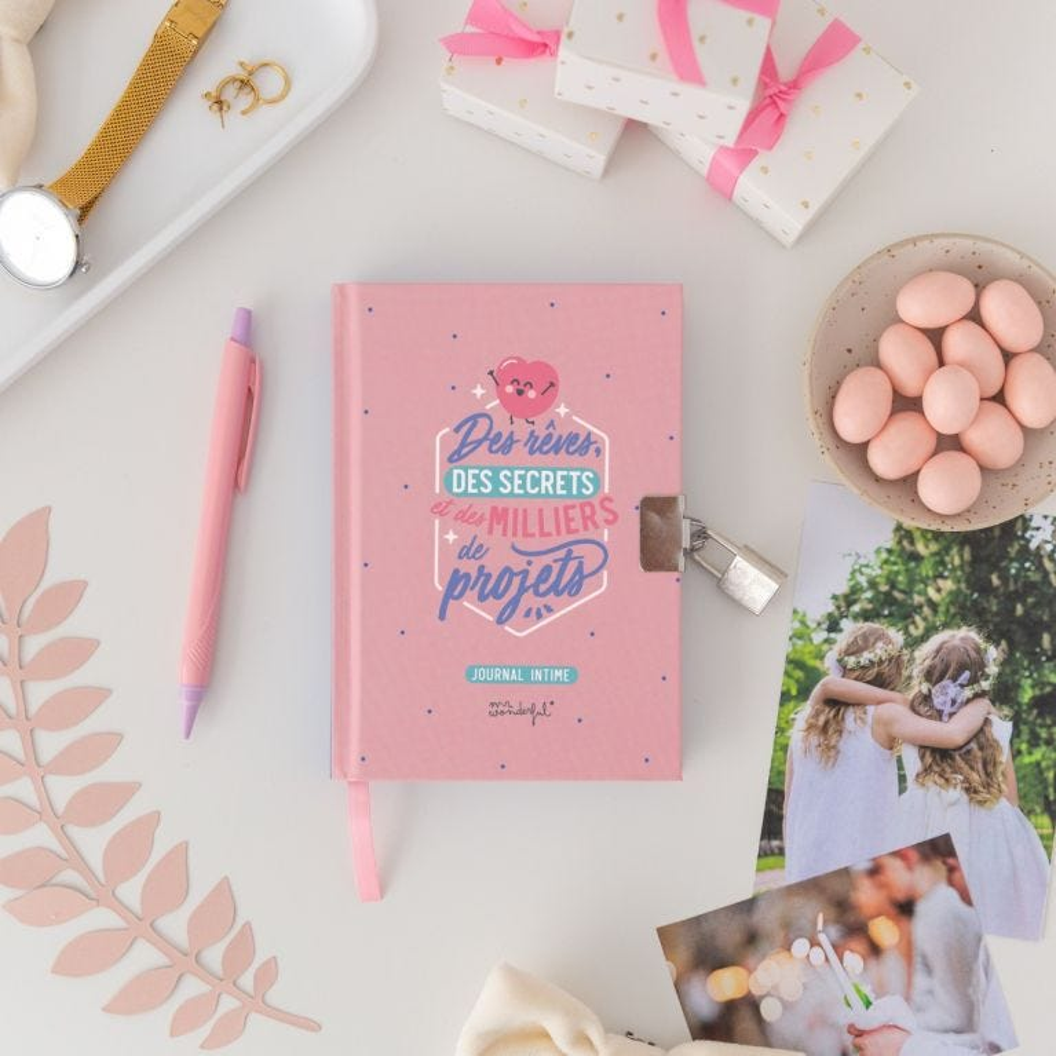 Journal intime avec cadenas - Des rêves, des secrets et des milliers de projets