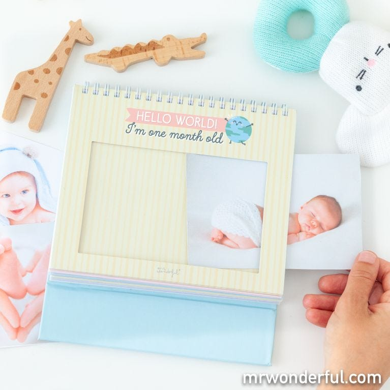 Baby photo album - 12 months and full to the brim with love
