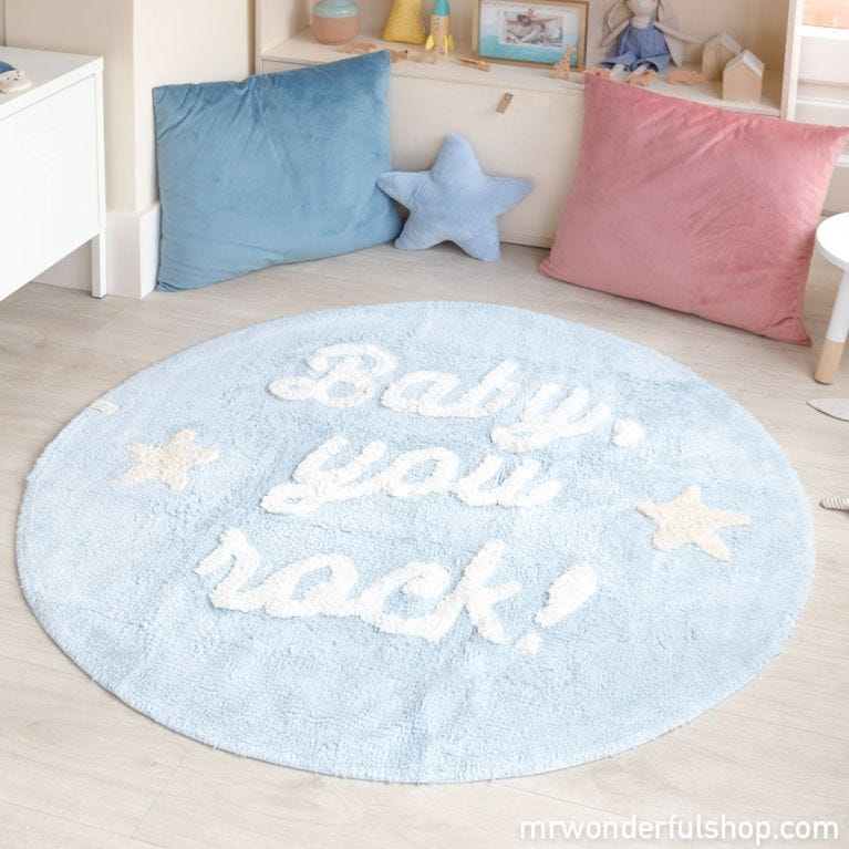 Alfombra lavable Lorena Canals - Baby, you rock!