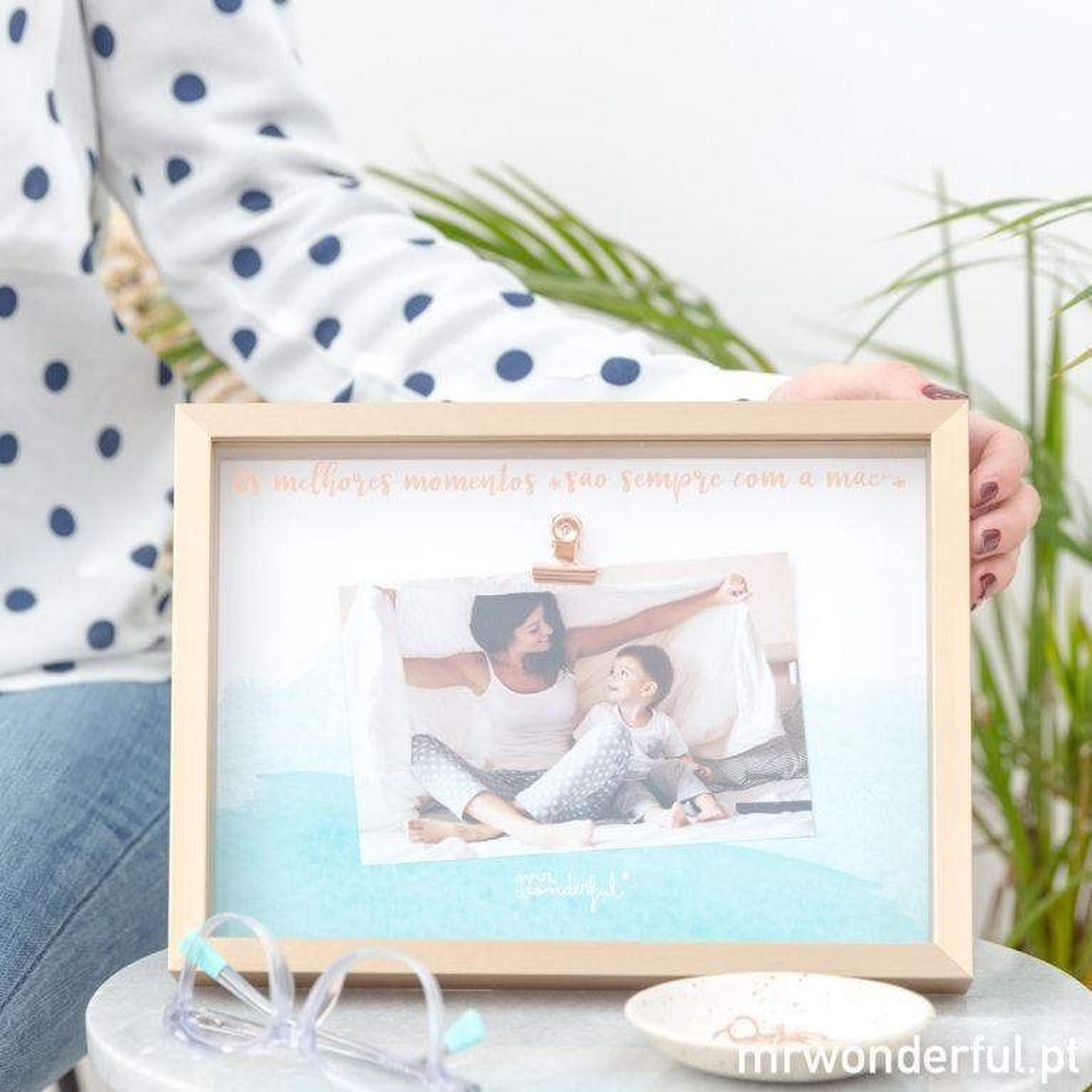 Moldura de fotos mãe
