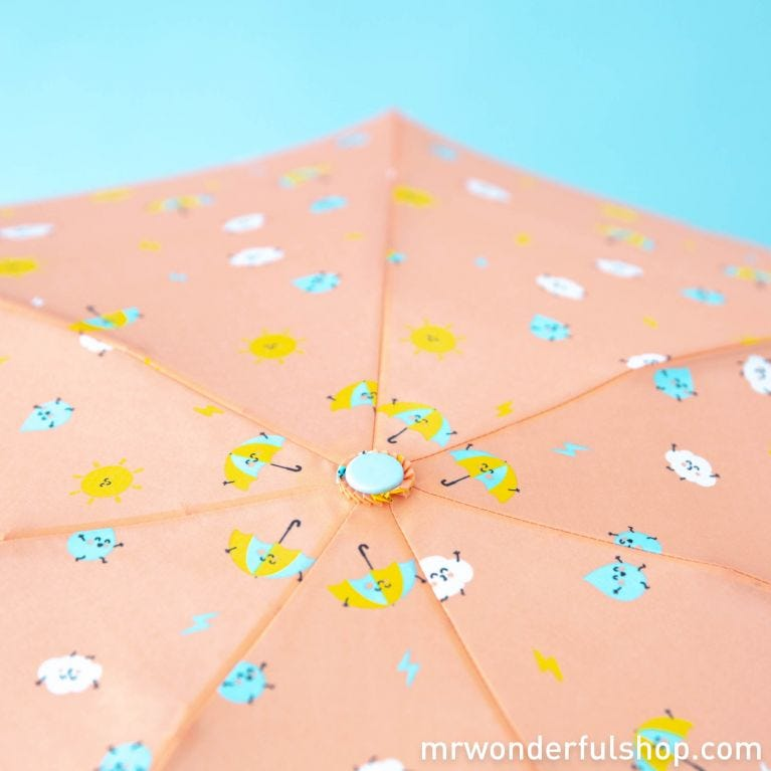 Small umbrella coral colour - Water drops pattern