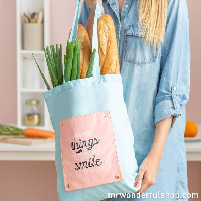 Foldable tote bag - Do small things with an