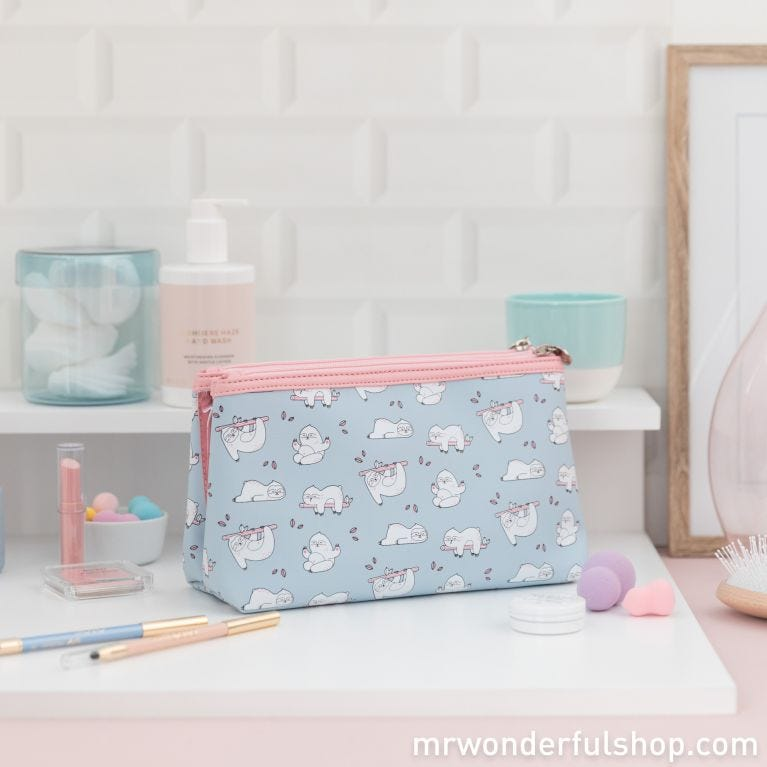 Double toiletries bag sloth Slow Collection - Ready in 5 hours