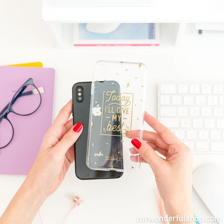 iPhone Xs Max case - Today I'll give my best