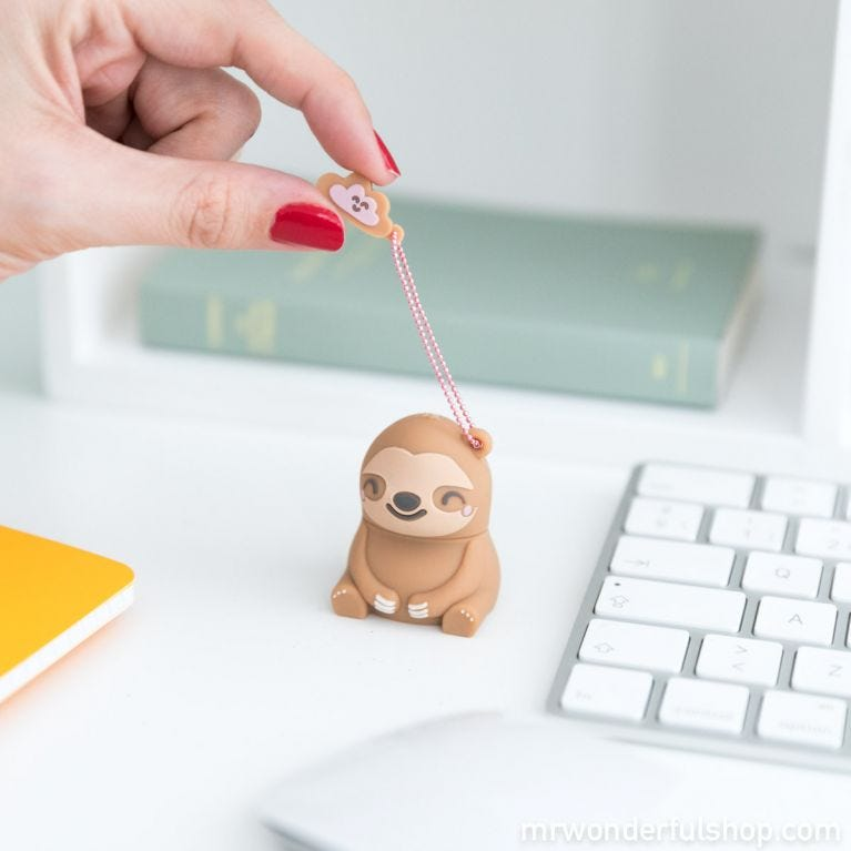 32GB sloth USB memory stick - Slow Collection