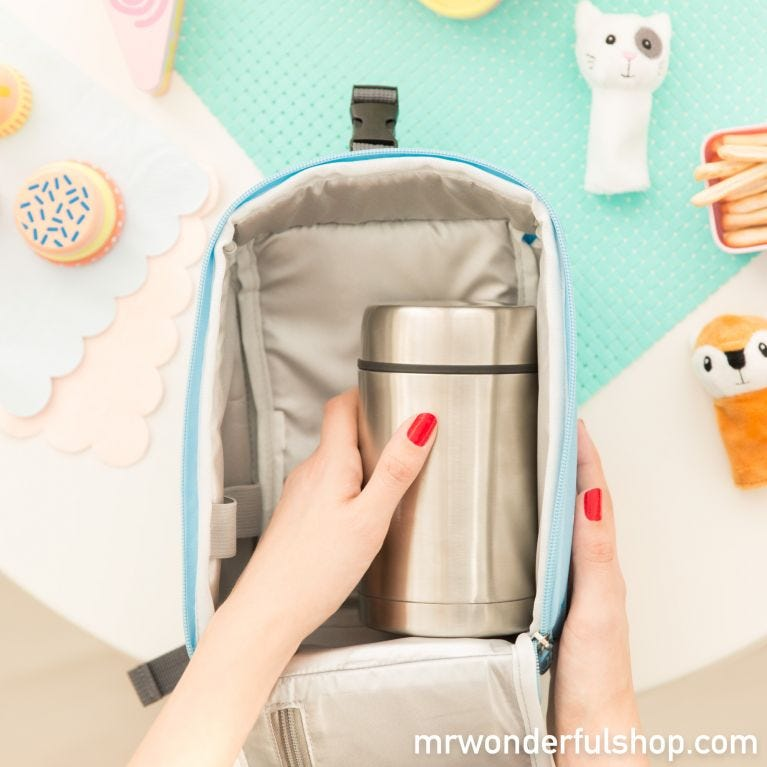 Backpack with a thermo container for solids - Let's discover the galaxy (ENG)