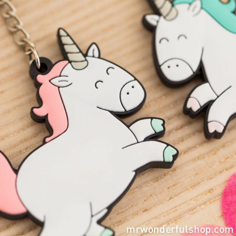 Set of 2 key-rings - Our friendship is magical