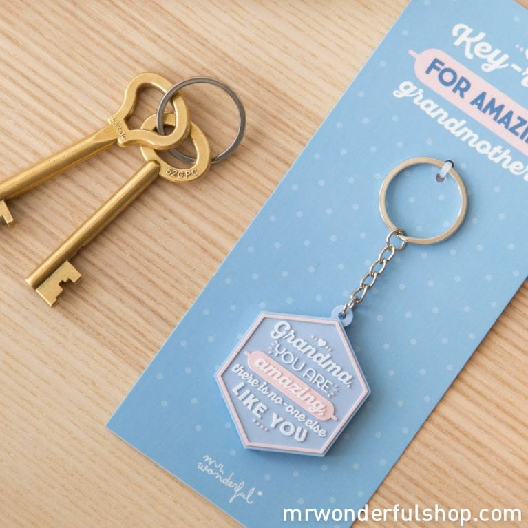 Key-ring - Grandma, you are amazing, there...