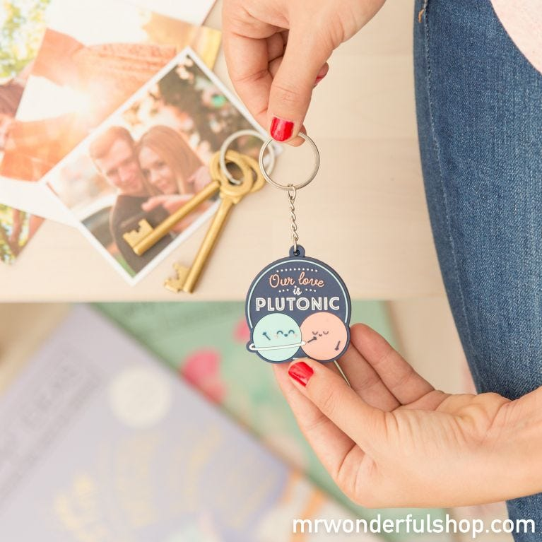 Key-ring - Our love is Plutonic