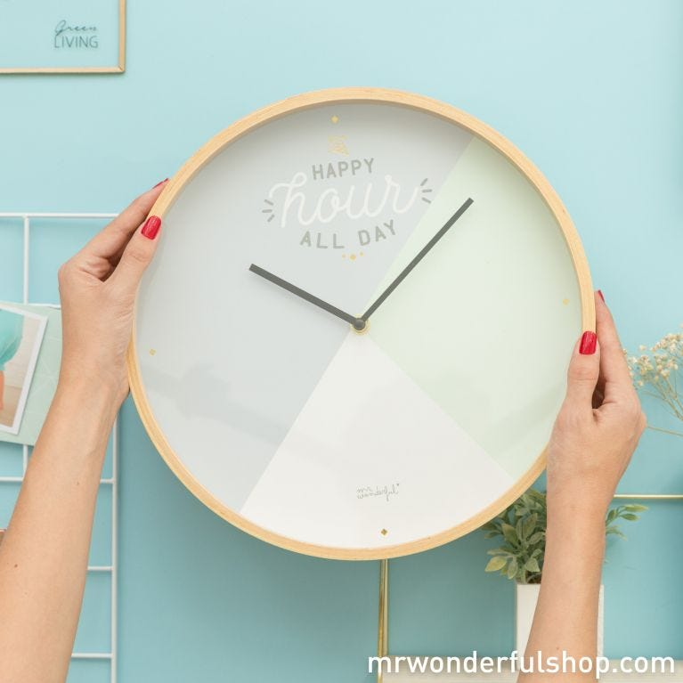 Wall clock - Happy hour all day (ENG)