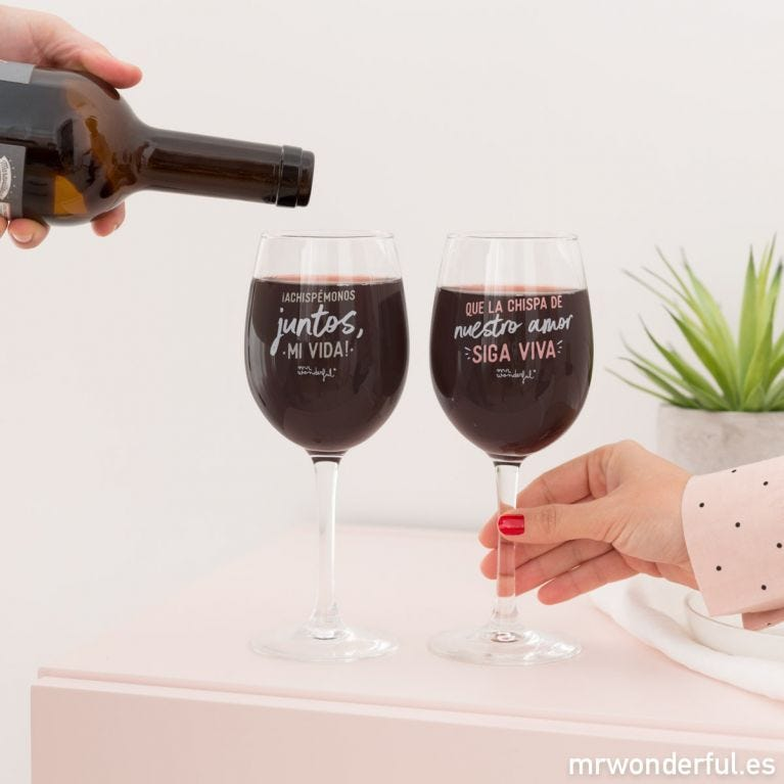 Set de 2 copas de vino
