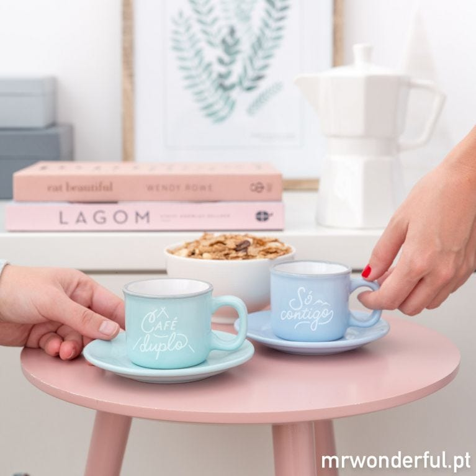 Conjunto de 2 chávenas - Café duplo, só   contigo