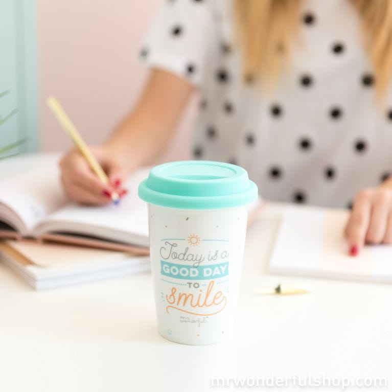 Travel cup - Today is a good day to smile (ENG)