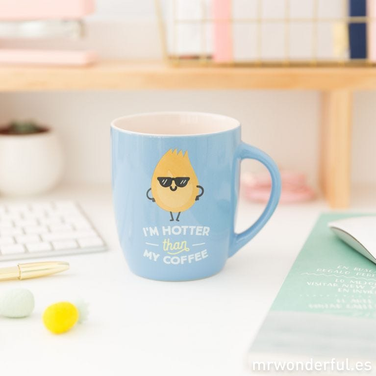 Taza - I'm hotter than my coffee (ENG)