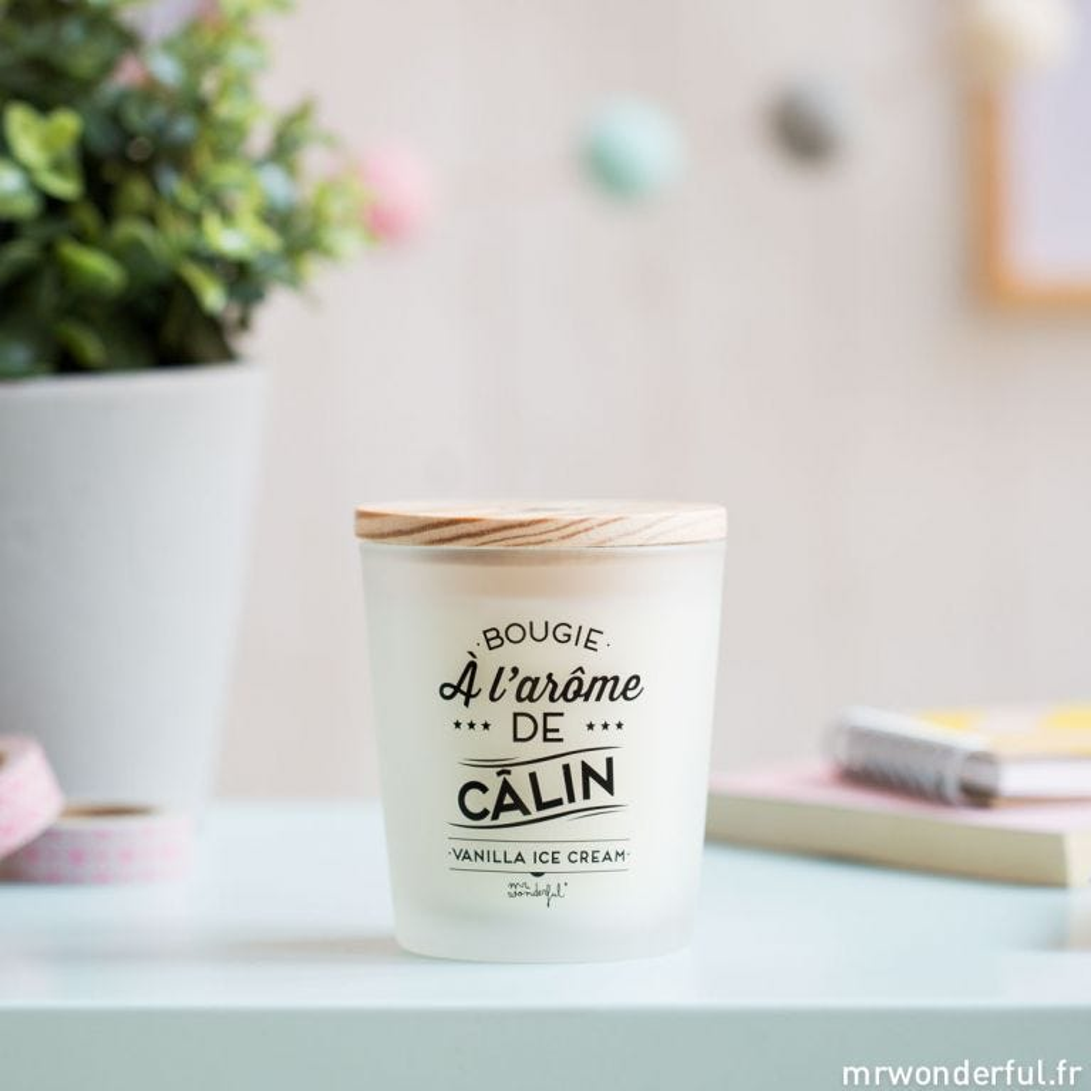 Bougie à l'arôme de câlin - Vanilla Ice Cream